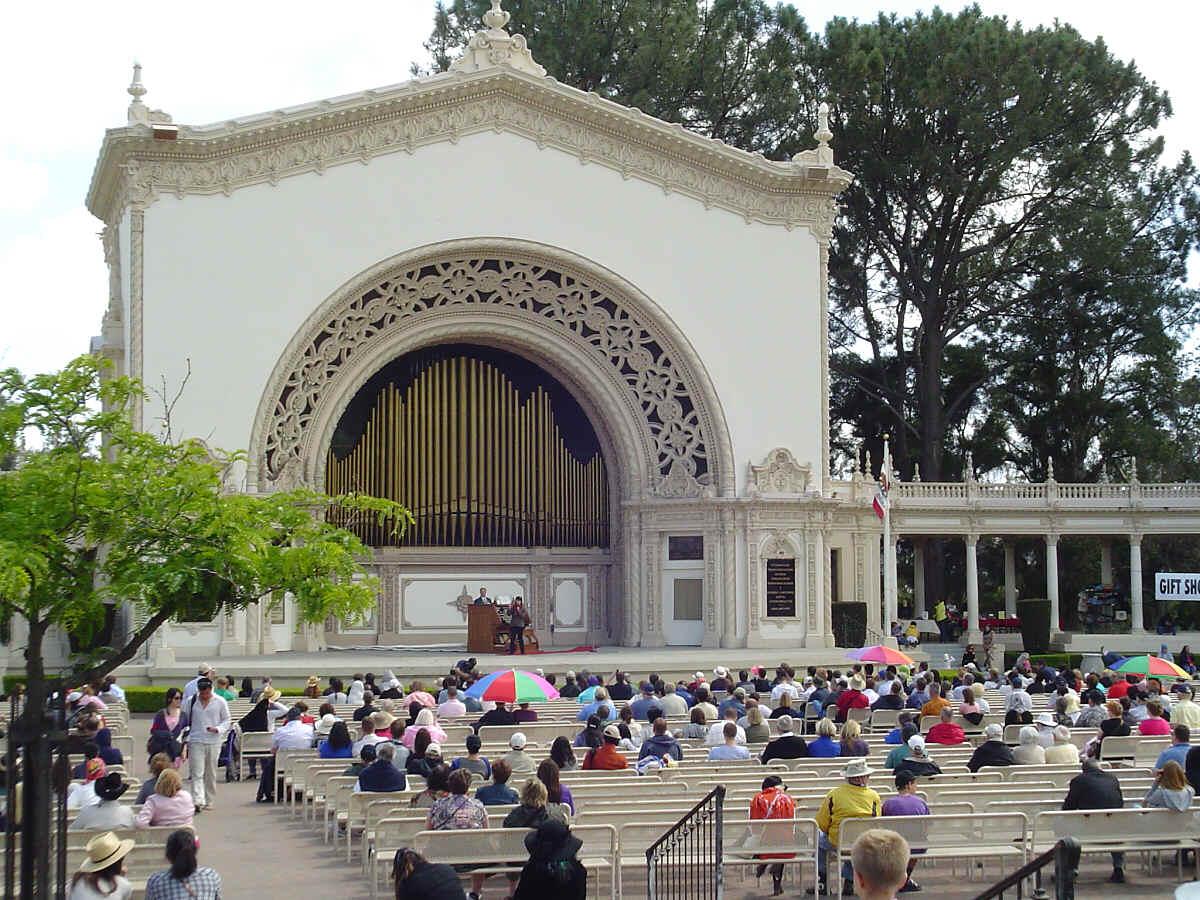 Spreckel 39 S Organ Summer Evening Concerts Balboa Park San Diego California